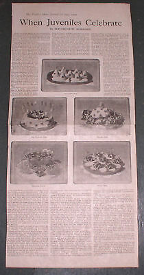 1909 JULY 4 NEWSPAPER FESTIVE HOLIDAY PARTY RECIPES