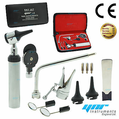 YNR ENT Otoscope Ophthalmoscope Opthalmoscope Nasal Larynx Diagnostic Set CE NEW
