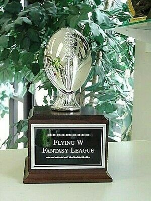 Fantasy Football Perpetual Trophy 16 Years Silver New!