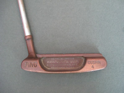 PING CUSHIN 4  PUTTER  BRONZE  golf club slotted bottom 85020  NICE! 1968-73