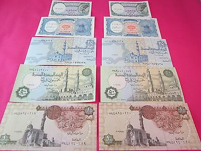 Egyptian Money Egyptian Currency 2 Sets Of 5 Notes Each