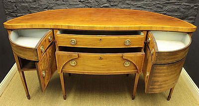 Antique Regency Serpentine-fronted Mahogany Sideboard (GIL:0346)