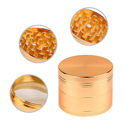 Magnetic Tobacco Grinder Zinc Alloy Herb/Spice Crusher Smoke 4 Piece - Copper