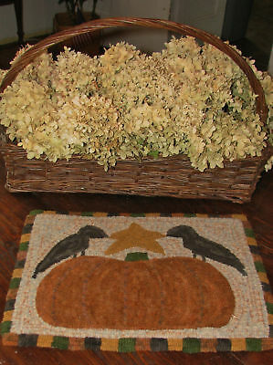 "Primitive Hooked Rug Kit ~ ""2 Crows & A Pumpkin"""