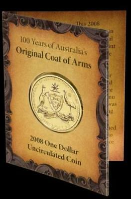 2008 $1 Privymark 100 Yrs of Aus Coat Of Arms Coin