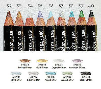 "9 NYX Slim Eye Pencil / Eyeliner - SPE  ""Glitter Full Set ""   *Joy's cosmetics*"