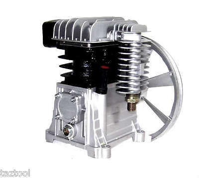 Twin Piston Air Compressor Head Pump 2 HP  115psi 8 bar