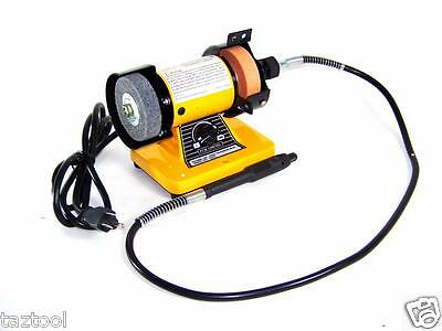 "Rotary Flexible Shaft Die Carving 3"" Mini Bench Grinder Polisher Buffer New"
