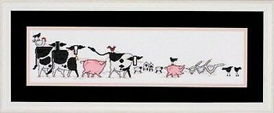 Barnyard March Cows Pigs Farm Counted Cross Stitch Kit Needle Treasures