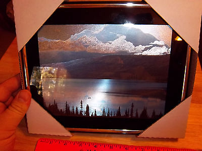 Mt Denali Alaska  & Wonder Lake framed Foil Print