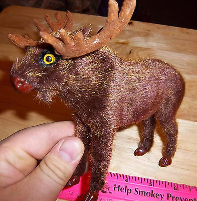 Cute Furry Friend Bull Moose 5 inches tall