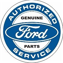 Vintage Ford Authorized Service Genuine Parts Decal
