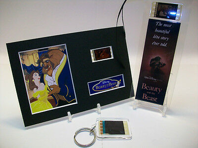 Beauty & the Beast 3 Piece Movie Film Cell Memorabilia Collection Gift Set