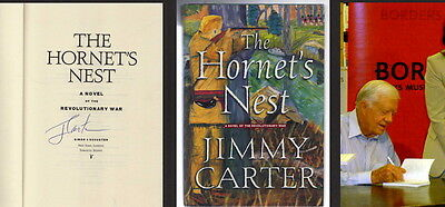 President Jimmy Carter Signed Autographed The Hornet's Nest Hardcvr Book W/Proof