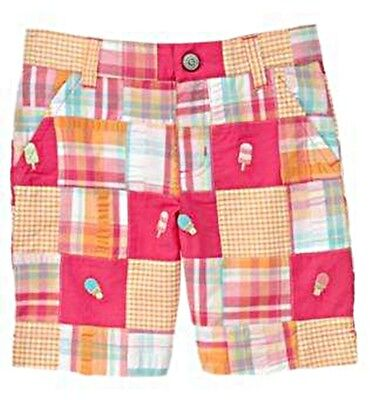 NWT Gymboree Popsicle Party 5 5T Patchwork Bermuda Shorts Pink Girls Ice Cream