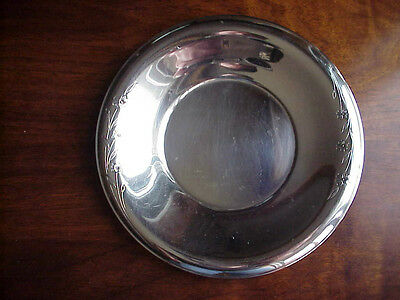 "Excellent 1847 Rogers Bros IS 8"" Plate Springtime Pattern Silverplate"