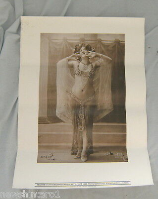 EIGHT POSTERS - FRENCH FEMALE POSTCARD BEAUTY c1910