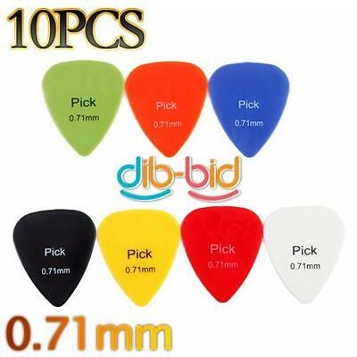 Professial 10 PCS Smooth Nylon Material 0.71mm Guitar Picks Plectrums #3