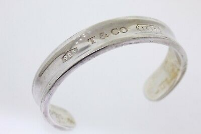 1997 TIFFANY & CO. Sterling Silver Cuff Bangle Bracelet