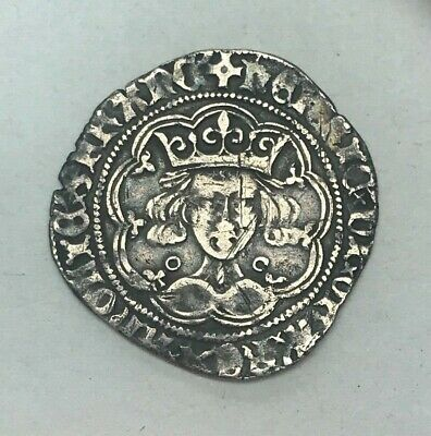 Nice Medieval Henry VI silver hammered Groat Coin - Calais