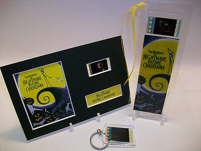 Nightmare Before Christmas 3 Piece Movie Film Cell Memorabilia Collection Gift