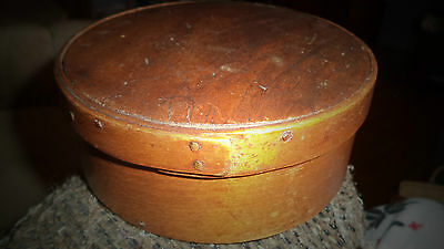 Antique Sm Maple Wood Pantry Band Box Wood Peg Lancaster Pa Signed Dated 1851