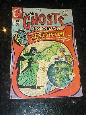 THE MANY GHOSTS OF DR GRAVES - Vol 3 No 24- date 02/1971 - Charlton Comics