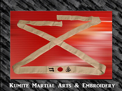 EMBROIDERED AFRO SAMURAI NUMBER TWO HEADBAND