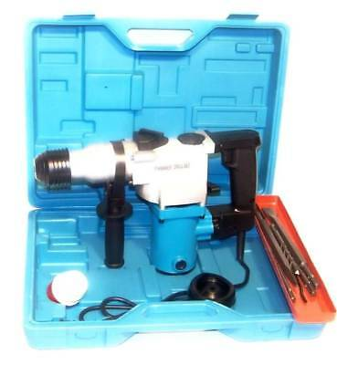 """1"""" Electric Rotary Hammer Drill with SDS plus drill bits punch chisel power tool"""
