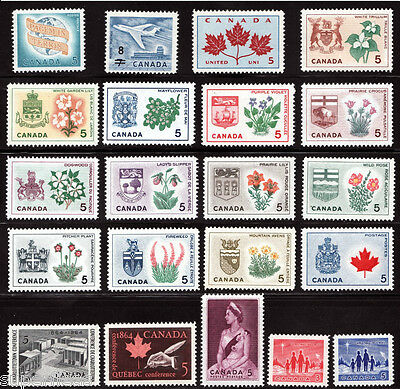1964 Year Set Provincial Flowers & Coats-of-Arms / Canada MNH  Postage Stamps