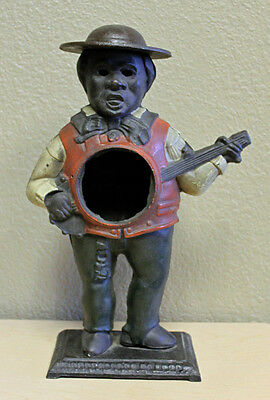 Original Antique 1870 Waterbury Sambo Banjo Player Blinking Eye Clock Case