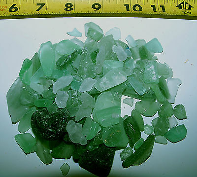 1/2 Lb Green - Ice Color Beach Seaglass Sea Glass Shells Crafts Weddings Jewelry