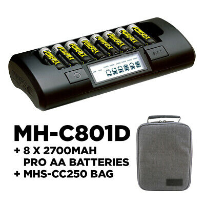 Maha Powerex MH-C801D Charger 8 x 2700 mAh Rechargable Batteries