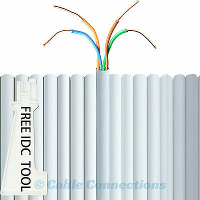40M White 2 Pair Core Bt Virgin Media Telephone Extension Phone Wire Cable Lead