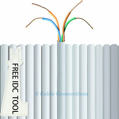10M Bt Cw1308 White Internal Copper Telephone Extension Cable 2 Pair 4 Core Wire