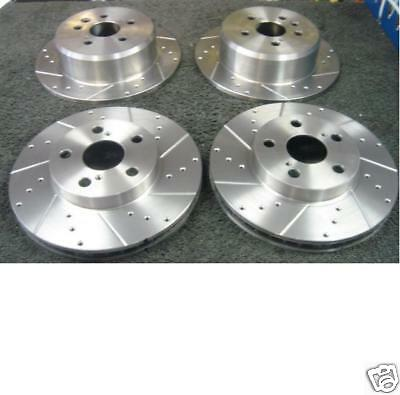 HONDA ACCORD 2.0 2.4 VTEC 2.2iCDTI BRAKE DISC CROSS DRILLED GROOVED FRONT REAR