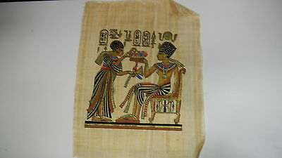 The Nile for Papyrus Hand Inked Egyptian Print: Couple In Black #2