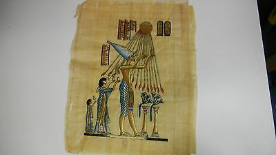 The Nile for Papyrus Hand Inked Egyptian Print: Figures & Sun