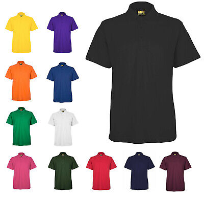 Mens Active Pique Polo T Shirt Size XS to 6XL SPORT CASUAL WORK LEISURE MIG 105