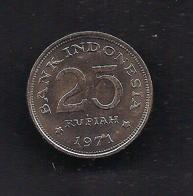 World Coins - Indonesia 25 Rupiah 1971 High Grade Coin KM # 34