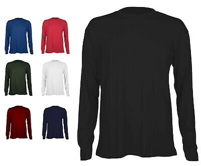 Mens Long Sleeve Premium T Shirt Size S to 6XL By MIG - WORK SPORTS  LEISURE 314