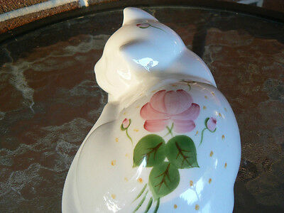 SLEEPING CAT--HAND PAINTED--LASTING PRODUCTS INC. MADE IN U.S.A. PRICE REDUCTION