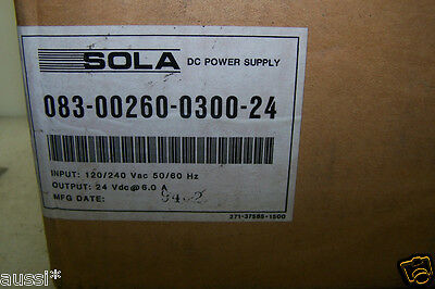 New Sola Dc Power Supply Model 083-00260-0300-24