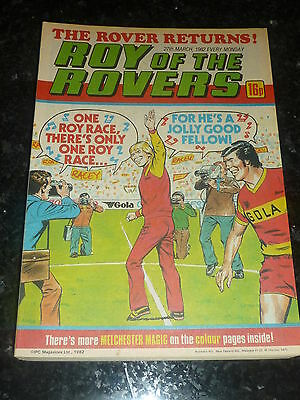 ROY OF THE ROVERS - Year 1982 - Date 27/03/1982 - UK Paper Comic