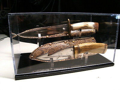 Double Knife w/ sheath display case holder custom stand fits randall knives