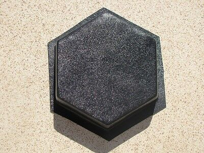 "6 HEXAGON DRIVEWAY PAVER & PATIO MOLDS MAKE 100s OF 9x9""x2.5"" PAVERS FOR PENNIES"