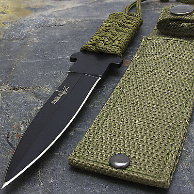 "7"" TACTICAL COMBAT FIXED BLADE MILITARY STILETTO KNIFE Throwing Survival Hunting"