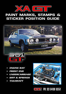 Ford Xa Gt Paint Marks Stamps Sticker Position Guide