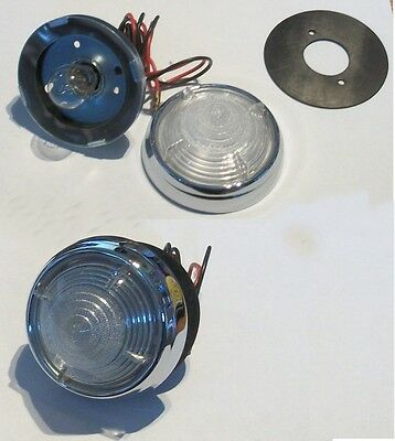 2 L539 Round Reversing lights for DAIMLER Conquest Drophead Coupe 1954-57 53378A