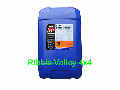 Millers Oils 20L Top Quality Alpine Antifreeze Extended Red